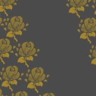 fleurs sur brun gris