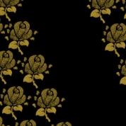 fleurs sur noir