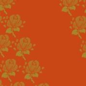 fleurs sur orange