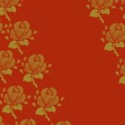 fleurs sur rouge