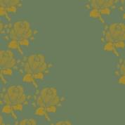 fleurs sur vert moyen