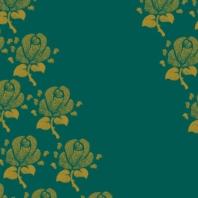 fleurs sur vert