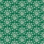 flocons beige sur vert