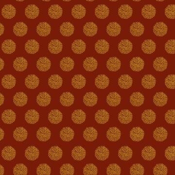 flocons dorés rouge foncé