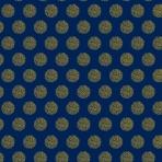 flocons dorés sur bleu nuit