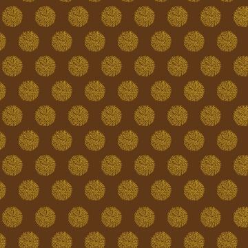 flocons dorés sur brun