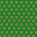 flocons dorés sur vert sapin