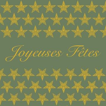 joyeuses fetes vert doré