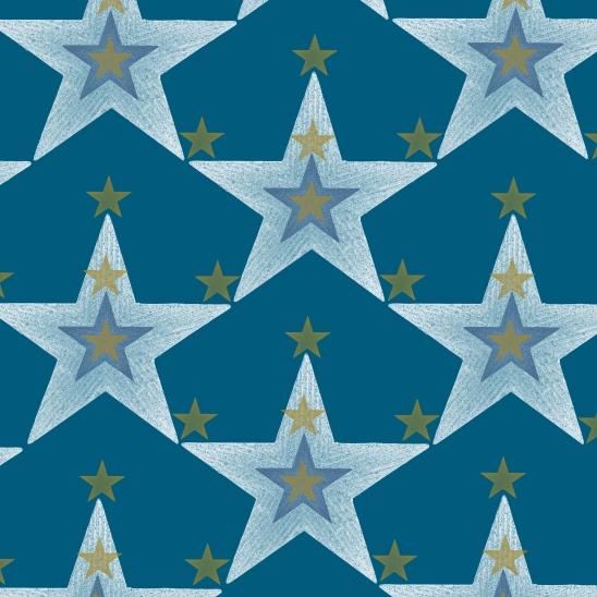 mix d'étoiles sur bleu