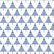 sapins p bleu ciel sur blanc