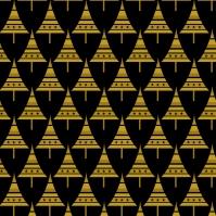 sapins p dorés sur noir