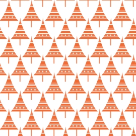 sapins p oranges sur blanc